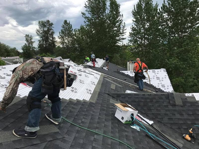 Dimensional Shingles Installation